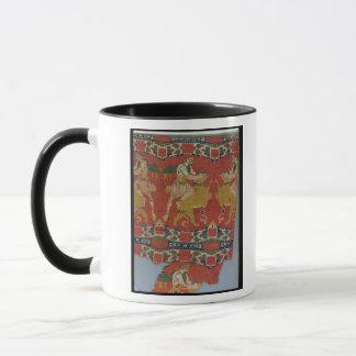 Taming of the Wild Animal, Byzantine tapestry frag Mug