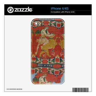 Taming of the Wild Animal, Byzantine tapestry frag Skin For iPhone 4