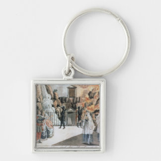 Tamino and Pamina before the temple Keychain