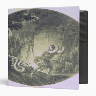 Tamino pursued by a giant serpent binder
