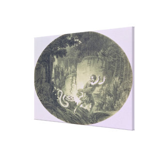 Tamino pursued by a giant serpent canvas print