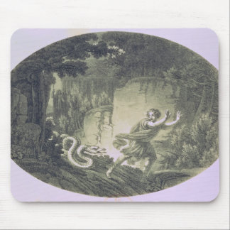 Tamino pursued by a giant serpent mouse pad