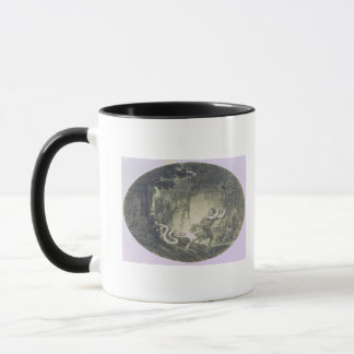 Tamino pursued by a giant serpent mug
