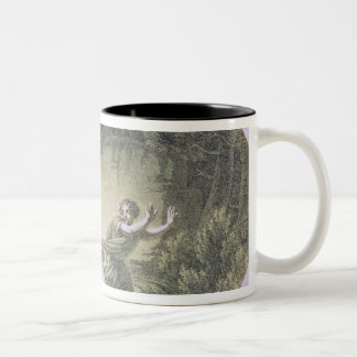 Tamino pursued by a giant serpent Two-Tone coffee mug