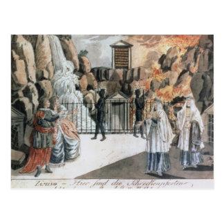 Tamino y Pamina antes del templo Postal