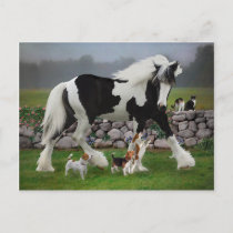 """Tamlin and the Pups"" Postcard"