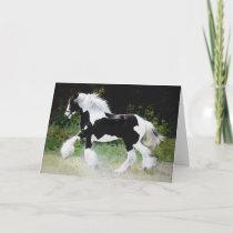 """Tamlin"" Horse Greeting Card"