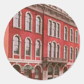 Tammany Hall, New York Classic Round Sticker