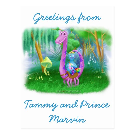 Tammy and Prince Marvin Postcard