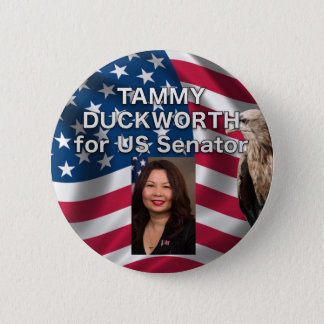 Tammy Duckworth for US Senator USA Button
