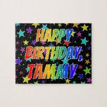 "[ Thumbnail: ""Tammy"" First Name, Fun ""Happy Birthday"" Jigsaw Puzzle ]"