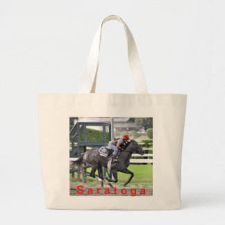 Tammy Fox riding for Dale Romans Large Tote Bag