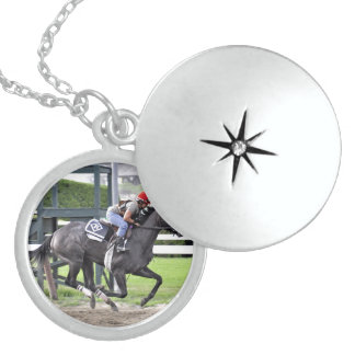 Tammy Fox riding for Dale Romans Round Locket Necklace