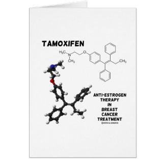 Tamoxifen Anti-Estrogen Therapy In Breast Cancer Greeting Card