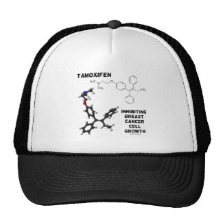 Tamoxifen Inhibiting Breast Cancer Cell Growth Trucker Hat