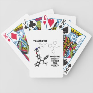 Tamoxifen Inhibiting Breast Cancer Cell Growth Poker Deck