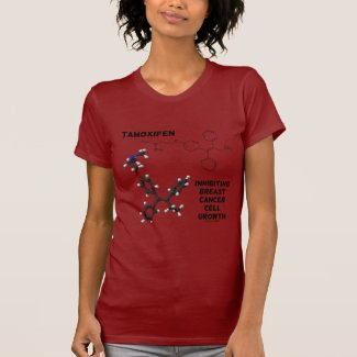 Tamoxifen Inhibiting Breast Cancer Cell Growth Tee Shirts