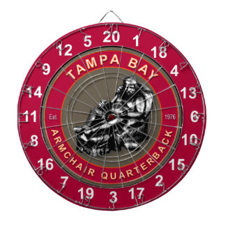 Tampa Bay Armchair Quarterback Football Dartboard