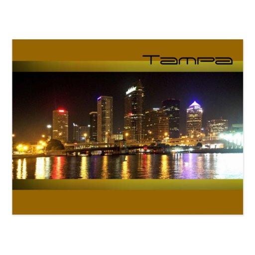 Tampa Bay at night Postcards