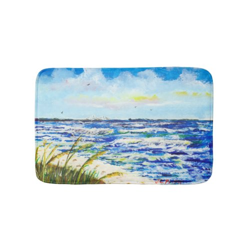 Tampa Bay Florida Beach Sunshine Skyway Bridge Bath Mat
