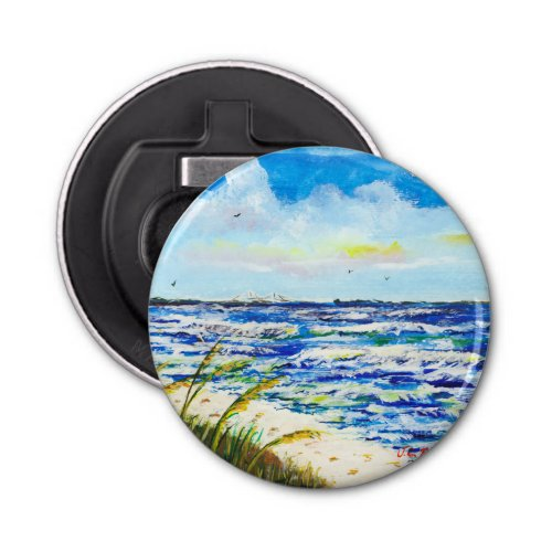 Tampa Bay Florida Beach Sunshine Skyway Bridge Bottle Opener