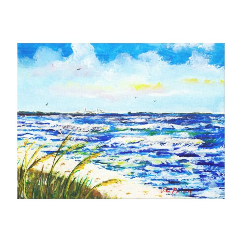 Tampa Bay Florida Beach Sunshine Skyway Bridge Canvas Print