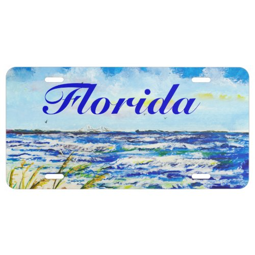 Tampa Bay Florida Beach Sunshine Skyway Bridge License Plate