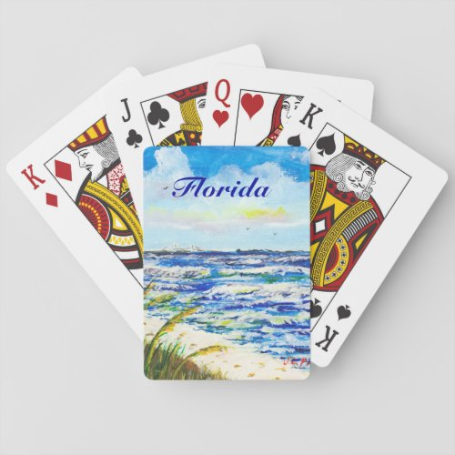 Tampa Bay Florida Beach Sunshine Skyway Bridge Playing Cards