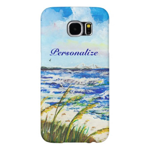 Tampa Bay Florida Beach Sunshine Skyway Bridge Samsung Galaxy S6 Case