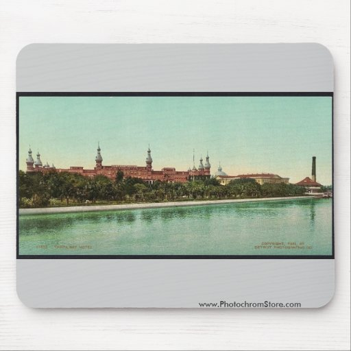 Tampa Bay Hotel classic Photochrom Mouse Pad