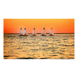 Tampa Bay Sail Boats Davis Island Sunset Double-Sided Standard Business Cards (Pack Of 100)