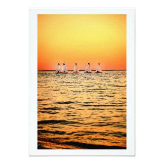 Tampa Bay Sail Boats Davis Island Sunset Card