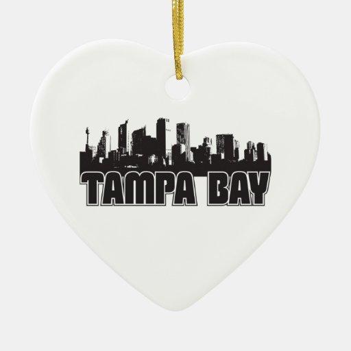 Tampa Bay Skyline Ceramic Ornament