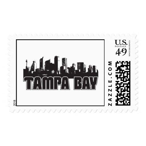 Tampa Bay Skyline Postage Stamp