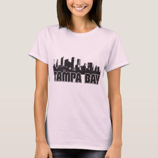 Tampa bay skyline t shirt zazzle for Tampa t shirt printing