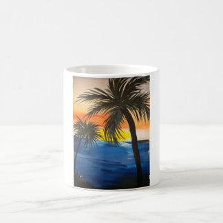 Tampa beach scene coffee mug