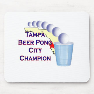Tampa beer Pong Champion Mouse Pad