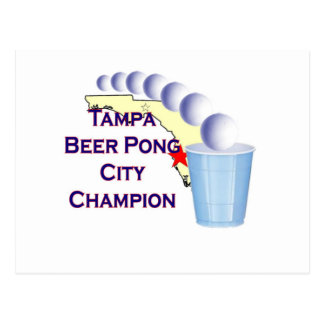 Tampa beer Pong Champion Post Cards