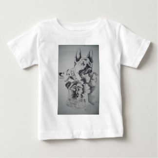 Tampa Canine Sketch by John Hart Baby T-Shirt