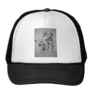 Tampa Canine Sketch by John Hart Mesh Hats