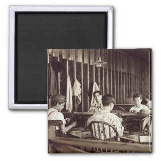 Tampa Cigar Boys, 1909 2 Inch Square Magnet