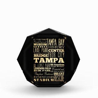 Tampa City of Florida State Typography Art Acrylic Award