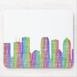 Tampa city skyline mouse pad