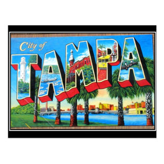 Tampa city Vintage Postcard