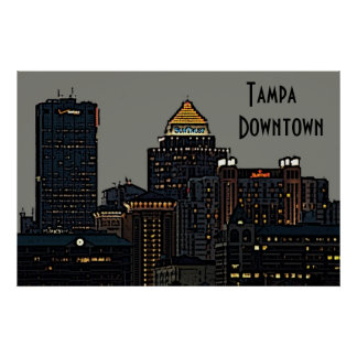 Tampa   Downtown Poster