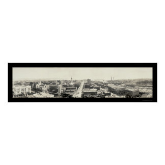 Tampa FL Panoramic Photo 1916 Poster
