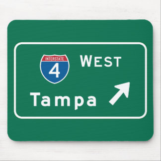 Tampa, FL Road Sign Mouse Pad
