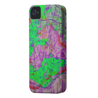 Tampa Flight map iPhone 4 Case