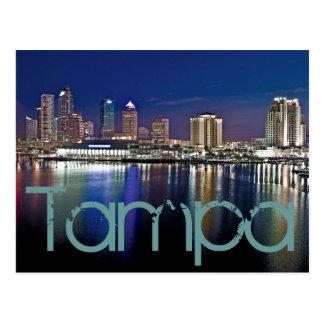 Tampa, Florida at dawn from Davis Islands. Postcard
