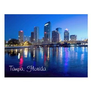 Tampa, Florida at dawn Postcard